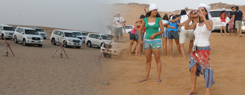 Group booking dubai trip, Group desert safari tour